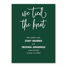 We Tied the Knot Reception Invitation