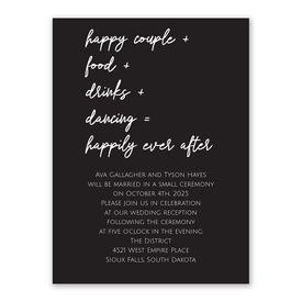 Happy Celebration Reception Invitation