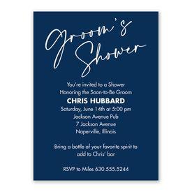 Future Groom Groom Shower Invitation