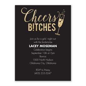 Bachelorette Party Invitations: Cheers Bachelorette Party Invitation