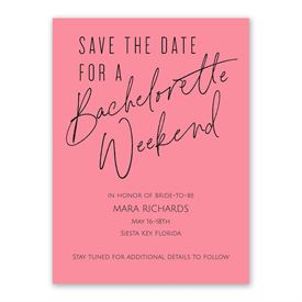 Bachelorette Party Invitations: Weekend Plans Bachelorette Party Invitation
