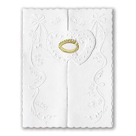 Wedding Invitations: Ring of Love  Gold  Invitation