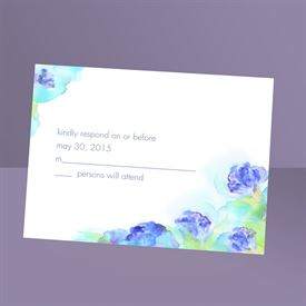 Wedding Response Cards: Beauty in Blue  Response Card and Envelope