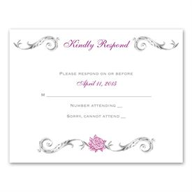 Wedding Response Cards: Fairy Tale Roses  Response Card and Envelope