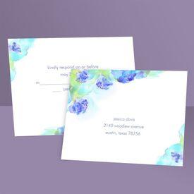 Wedding Response Postcards: Beauty in Blue  Response Postcard