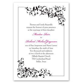 Wedding Invitations: Filigree Perch  Invitation
