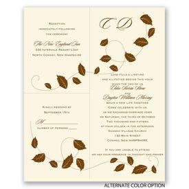 Autumn Breeze - Ecru - Separate and Send Invitation