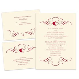 Love Bound - Ecru - Separate and Send Invitation