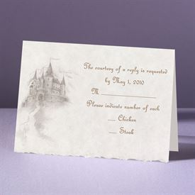 Wedding Response Cards: Happily Ever After  Response Card and Envelope