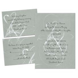Elegant Wedding Invitations: Silver Purity  Separate and Send Invitation