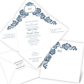 Elegant Wedding Invitations: Flowering Arch Seal and Send Invitation