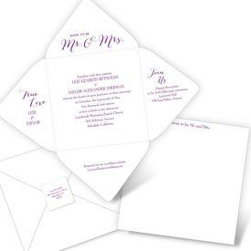 Elegant Wedding Invitations: Mr. & Mrs. Seal and Send Invitation