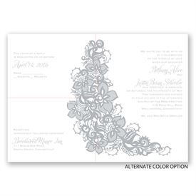 Lovely Lace - Separate and Send Invitation