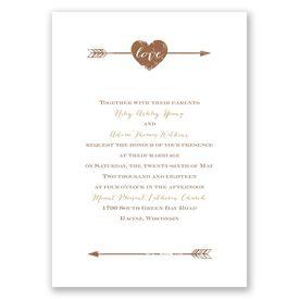 Fall Wedding Invitations: Rustic Arrow Invitation