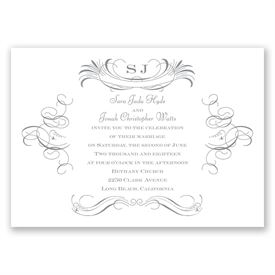 Elegant Wedding Invitations: Pretty Swirls Invitation