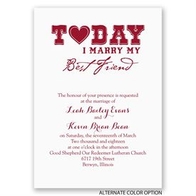 Today I Marry - Invitation