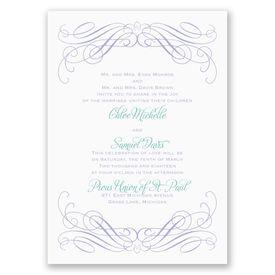 Elegant Wedding Invitations: Sweeping Romance Invitation