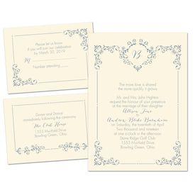 Elegant Wedding Invitations: Swirls and Spires Separate and Send Invitation