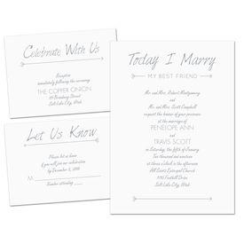 Wedding Invitations: Cupids Match Separate and Send Invitation