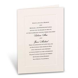 Wedding Invitations: Classic Look Large Ecru Panel