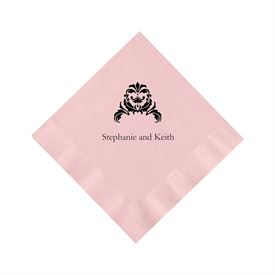 Classic Pink Cocktail Napkin