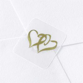 Gold Swish Hearts Seal