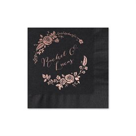 Roses and Whimsy Foil Cocktail Napkin