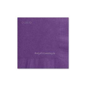 Simple Details - Purple - Foil Cocktail Napkin