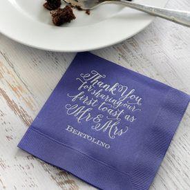 First Toast - Purple - Foil Cocktail Napkin