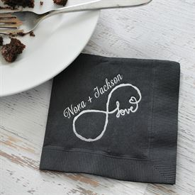 Love for Infinity - Pewter - Foil Cocktail Napkin