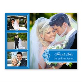 Photo Delight - Blue - Photo Thank You Card and Envelope