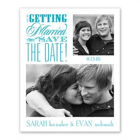 Modern Save The Dates: Beautiful Words Save the Date Card