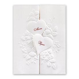 Wedding Invitations: Interlocking Hearts Invitation