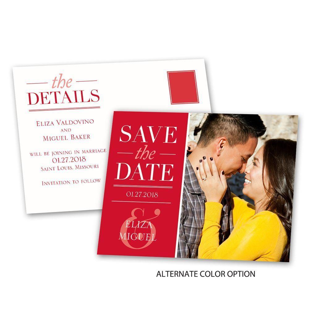 modern style save the date postcard  ann's bridal bargains