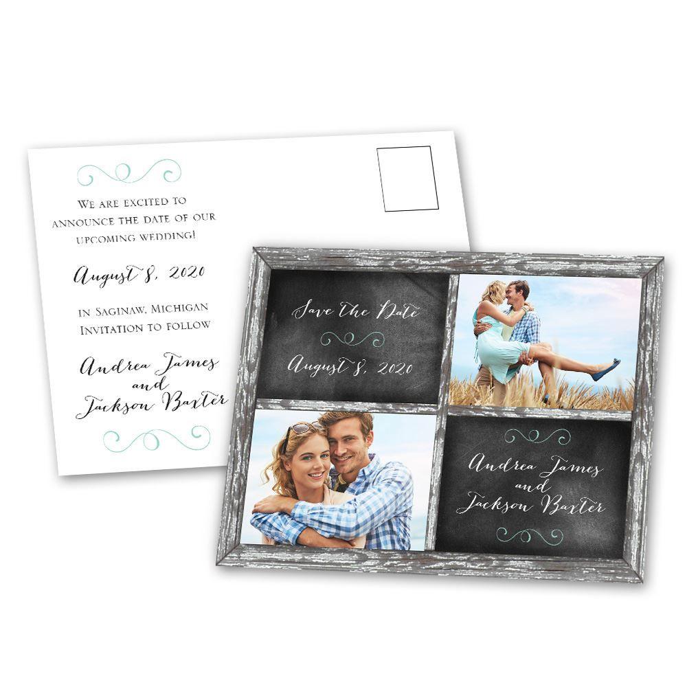 Window Frame Save The Date Postcard