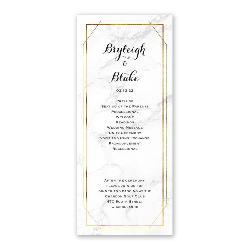 marble frame wedding program ann s bridal bargains marble frame wedding program ann s bridal bargains