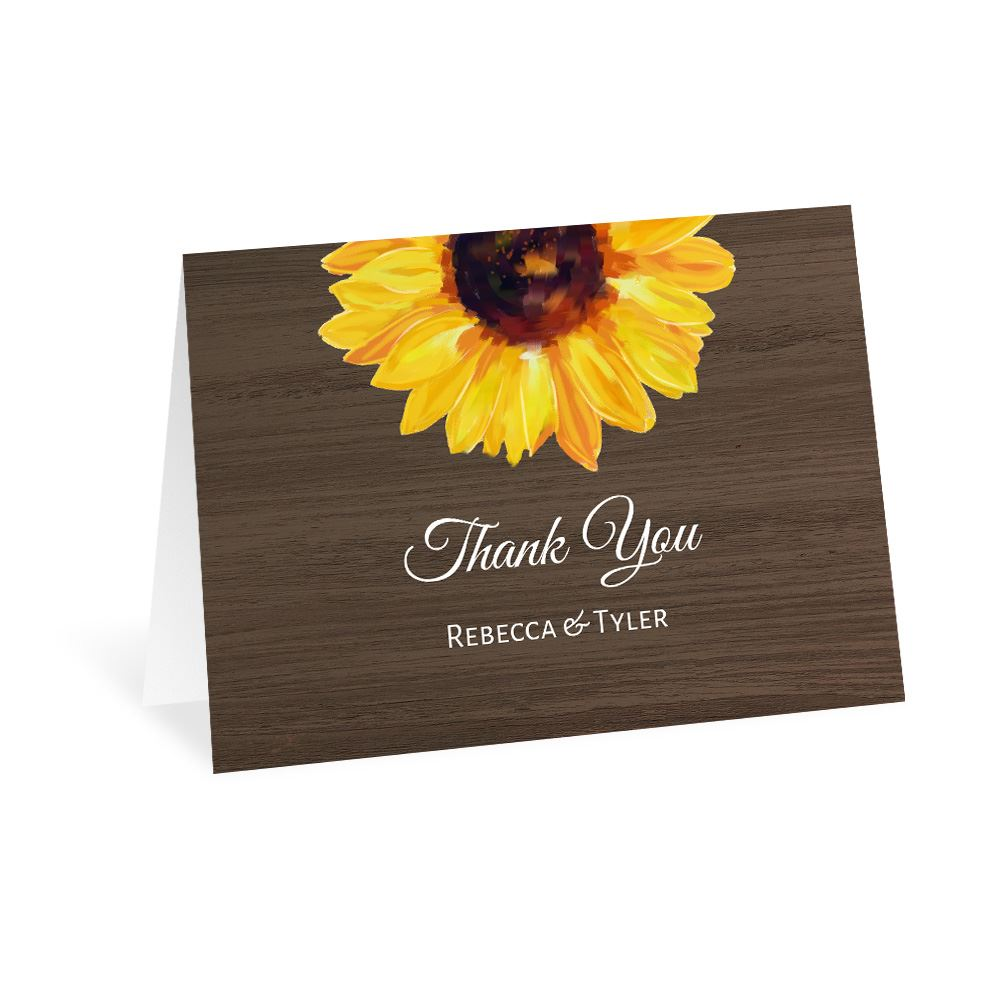 Country Sunflowers Thank You Card Ann