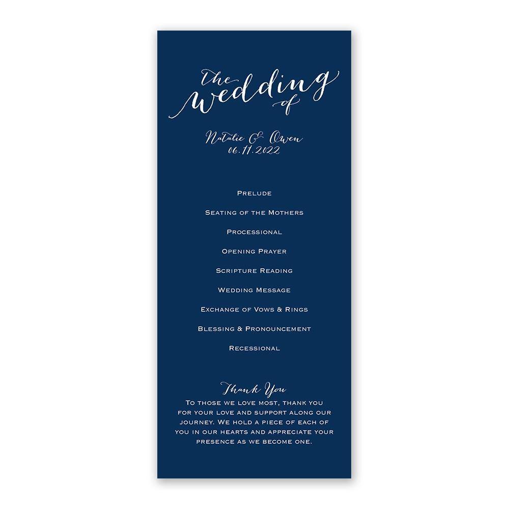 Keep It Simple Wedding Program Ann S Bridal Bargains