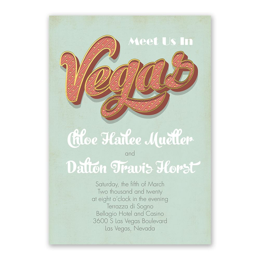 Vegas Wedding Invitations Ann S