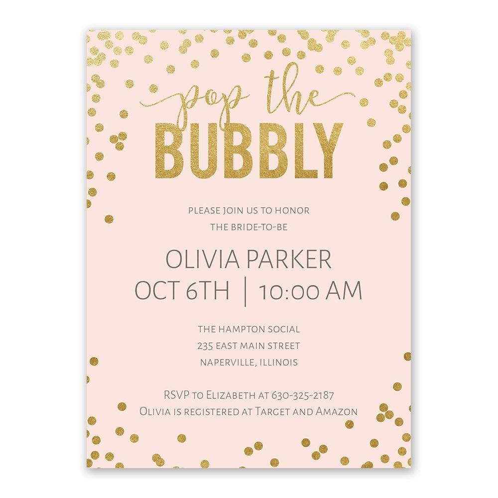 Bubbly Bridal Shower Invitation Ann S Bridal Bargains
