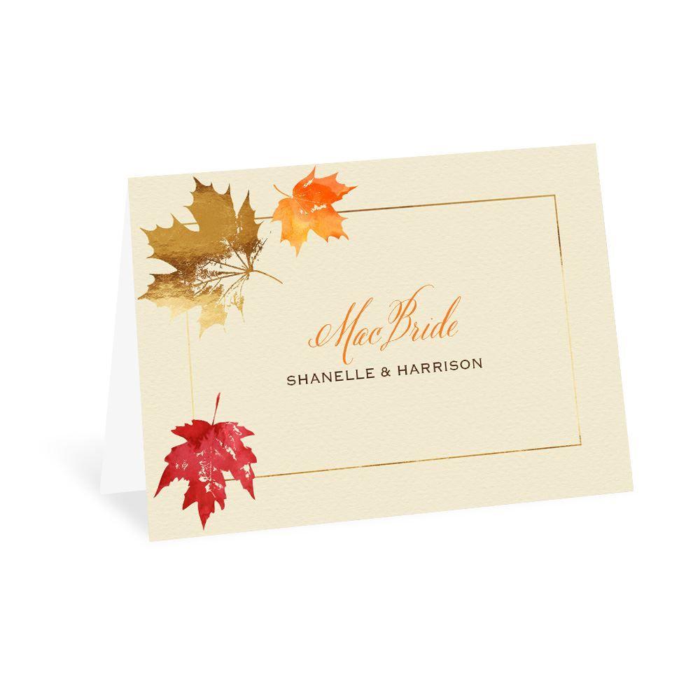 Fall Thank You Card Set Falling in Love Wedding Autumn Thank You Card Set Love Birds Fall Tree Wedding Thank You Card Fall Leaf Wedding