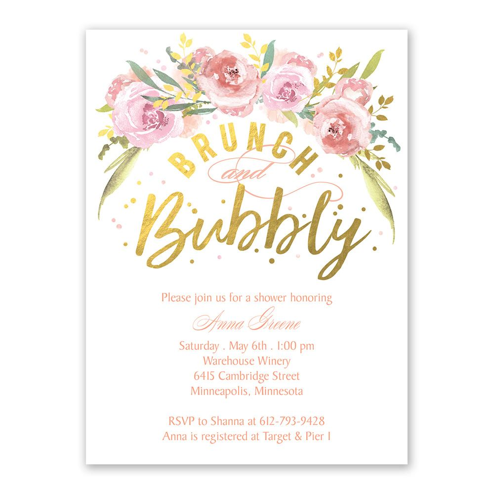 Bubbly Bridal Shower Invitation