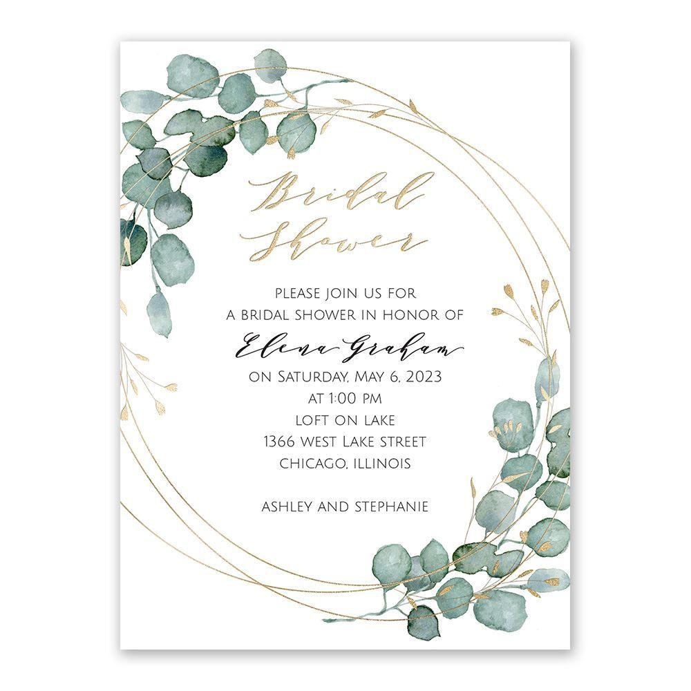 Eternity Bridal Shower Invitation Ann