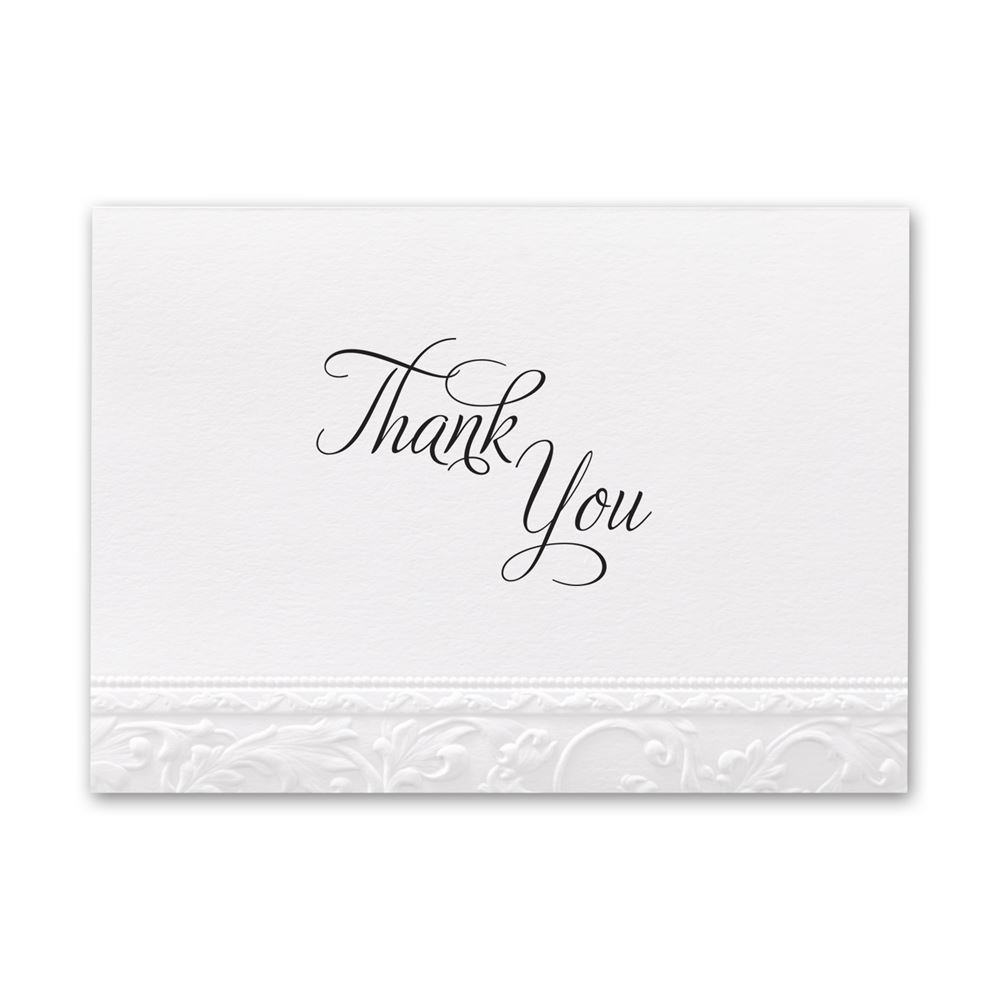 Elegant Filigree Thank You Card And